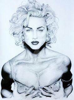 Madonna by on DeviantArt Patrick Demarchelier, Brigitte Bardot, Fotos Marilyn Monroe, Marylin Monroe Drawing, Editorial Photography, Portrait Photography, Madonna 90s, Madonna Fashion, Bleach Blonde Hair