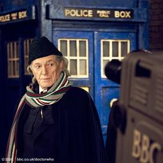 David Bradley as William Hartnell. Eep! For the anniversary tale of the origins of the show.