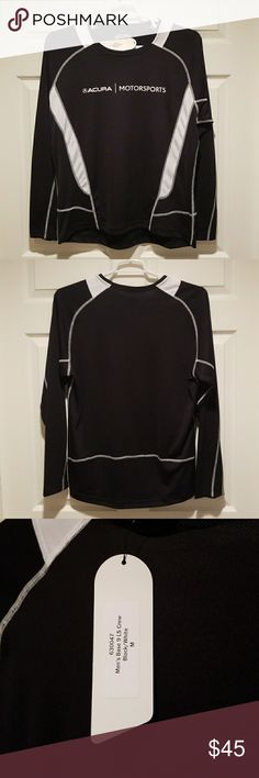 NWT Acura Motorsports Long Sleeve Unisex Shirt New with tags Acura Motorsports Long sleeved athletic tee. Promotional item from NSX joining the GT3 league. Size M. Rare find not normally available for sale! Excellent Christmas gift for the Acura driver in your life. Eco Shirts Tees - Long Sleeve