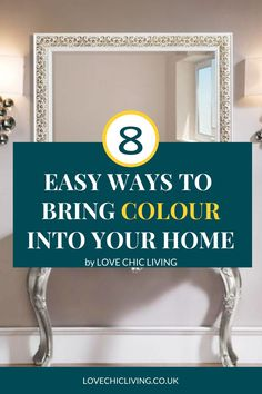 Want to design a bright & bold home? Here are 8 ways to bring colour into your home interior design. Be brave and use coloured wallpaper or add a more subtle hint of colour with colourful home accessories. This guide will show you the best ways to add a splash of colour to your family home Kitchen Colour Schemes, Room Color Schemes, Room Colors, Wall Colors, House Colors, Fluffy Cushions, Curtains With Blinds, Colorful Wallpaper, Jar Storage