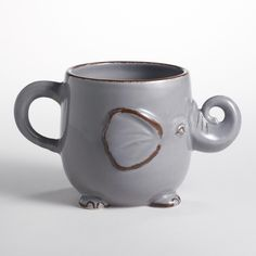 This Gray Elephant Mug from World Market is almost too adorable.