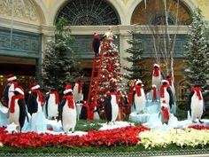 Display at Bellagio Hotel in Las Vegas christmas photos | christmas images, christmas pictures