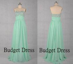 Fashionable Desing Sweetheart Neckline Floor Length Chiffon Prom Dress with Bead Work Bridesmaid Dresses Prom Dresses - Long Cihffon Dresses