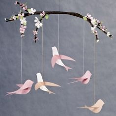 A round up of bird tutorials and templates. (image via marthastewart.com) You could use mushroom birds on this as well and it would be lovely!