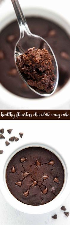 The Best Healthy Flourless Chocolate Mug Cake