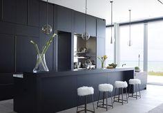 Vero Beach Residence Main Kitchen Kitchen Contemporary Coastal by DJDS | #kitchen #blackkitchen