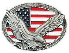 56b7b834f920 American Eagle on USA Flag Oval Belt Buckle (Made In The USA). Ceintures  WesternDrapeau AméricainBoucle ...