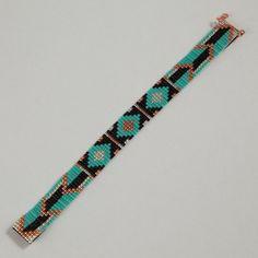 Tribal Arrows Bead Loom Bracelet Artisanal Jewelry por PuebloAndCo