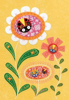 LADYBUGS Good Luck card by Linda Solovic for Carte by Calypso Cards Inside Greeting: Good luck! Price: $3.50
