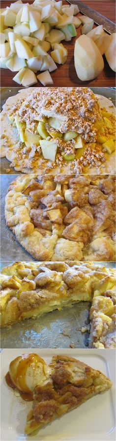 apple crostata AKA flat apple pie