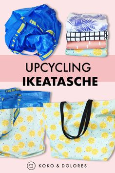 Upcycling - Ikeatasche In a few steps, the famous Ikea Frakta becomes a super practical beach bag. Perfect for transporting everything you carry around as a mom for the troupe . Diy Kallax, Which Is Correct, Decoration Ikea, Malm, Refashion, Upcycle, Knitting Patterns, Sewing Projects, Recycling