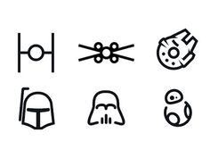 minimal #StarWars icons More
