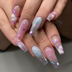 Cute And Colorful Fruit Nail Designs For 2020 - Ballerina Nägel Acrylic Nails Natural, Summer Acrylic Nails, Best Acrylic Nails, Summer Nails, Acrylic Nail Art, Aycrlic Nails, Swag Nails, Coffin Nails, Glitter Nails