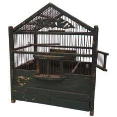 19th Century French Painted Bird Cage 1