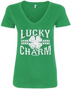 Threadrock Women's Lucky Charm V-Neck St. Patrick's Day T-Shirt (affiliate)