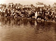 """The photo is by Curtis, and was taken in 1908. Curtis captioned the image, """"At the pool, animal dance - Cheyenne"""""""