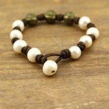 0-11 MM of potato, 2.5 MM white pearl of handmade fashion bracelets  ETS-B190