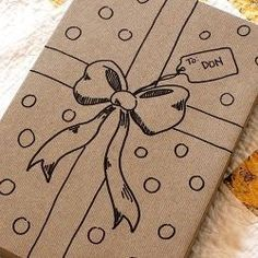 25 Easy Sharpie Crafts - Skip the gift wrap and use a sharpie to doodle right on the box.