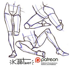Become a patron of kibbitzer today: Read 460 posts by kibbitzer and get access to exclusive content and experiences on the world's largest membership platform for artists and creators. Leg Reference, Body Reference Drawing, Anatomy Reference, Art Reference Poses, Leg Anatomy, Anatomy Drawing, Drawing Legs, Drawing Poses, Manga Drawing