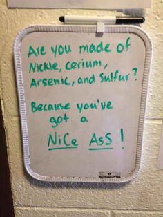 science flirt lines online