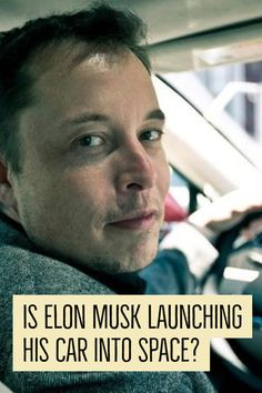 The SpaceX CEO first said his Tesla Roadster would be a part of the cargo of the upcoming Falcon Heavy test. Falcon Heavy, Tesla Roadster, Elon Musk, Space Exploration, Product Launch, Jokes, Science, Husky Jokes, Chistes