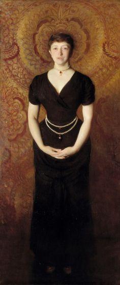Portrait of Isabella Stewart Gardner, 1888, John Singer Sargent, Oil on canvas, 190 x 80 cm
