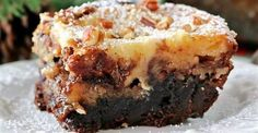 Rake In The Compliments With This Off-The-Hook Dessert! These Pecan Pie Cheesecake Brownies Will Completely Blow Your Mind!