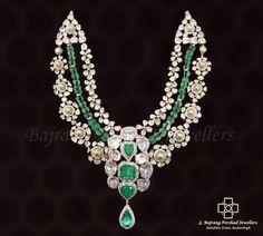 Polki and emeralds