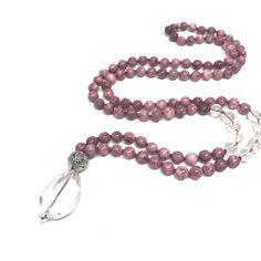40% off SALE Pretty in Pink Mala Necklace Rose by LKSjewelry