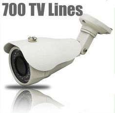 """HQ-Cam® Security Surveillance Bullet Camera - 700TV Color Lines High Resolution 1/3"""" Sony Super HAD II CCD 2.8mm?12mm VF Lens Day Night CCTV Home Video Security Camera Outdoor/indoor by Q1C1. $137.99. Product Type:Color Infrared Camera Image Sensor:1/3"""" Sony Super HAD II CCD Effective Pixels:976 (H) x 508 (V) Horizontal Resolution:650/700 TV Lines Minimum Illumination:0.01 Lux @ F2.0 / 0 Lux @ IR """"on"""" Lens:2.8-12mm S/N Ratio:More than 48 dB Signal System:NTSC Video..."""