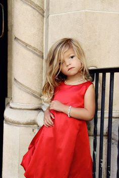 Girls Red Bubble Dress by simplicitycouture on Etsy