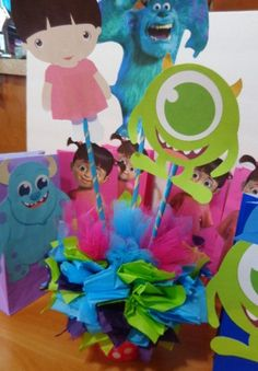 Monsters Inc. Centerpiece by SweetCreationsbySu on Etsy