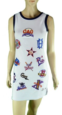 Negro League Baseball Museum Tank Dress Embroidered Patches S/XS Black Americana