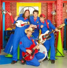 Imagination Movers - Best Kids Show hands down. Never gets annoying!!