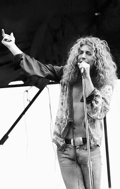Robert Plant in 1972 by Phillip Morris
