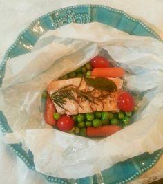 Troxinha de salmão com legumes