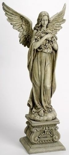 Garden Angel Statues,St. Francis Garden Statue,Garden Decorations,Angel Squirrel Statue,Angel Statues
