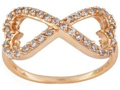 True love is infinite. Celebrate your love story with this gorgeous heart shaped infinity ring.  Bella Luce (R) .68ctw 18k Rose Gold Over Sterling Silver Infinity Ring