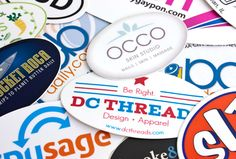 Custom Oval Stickers **In case you want to make a sticker for an event**