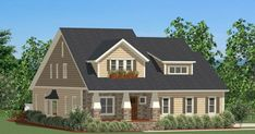 Sweet 2,800-square-foot bungalow from The House Designers. Meadowview Plan # 9018.