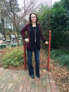 Stitchfix - Market & Spruce Dino Open Cardigan and Kut From The Kloth Goldie Flare jean.  Love them both!