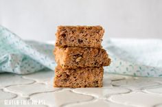 These Grain-Free Carrot Cake Bars are gluten-free, dairy-free, and refined sugar free. They are healthy and filling and know one will ever know that these carrot cake bars are good for you. Dairy Free Treats, Paleo Treats, Gluten Free Desserts, Easy Desserts, Carrot Cake Bars, Paleo Carrot Cake, Breakfast Bars, Breakfast Items, Paleo Dessert