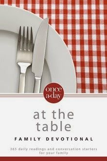 Once-A-Day At the  Table Family Devotional by Christopher D. Hudson  http://www.faithfulreads.com/2015/03/wednesdays-christian-kindle-books-early_25.html