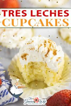 A classic Mexican dessert, Tres Leches Cake, goes single sized in these Tres Leches Cupcakes. Light and fluffy cupcakes infused with three creamy milks and topped with mascarpone frosting. Tres Leches Cupcakes make a Latin American favorite more fun. Super soft, fluffy vanilla cupcakes are poked with a fork and then soaked in a milk mixture with evaporated milk, sweetened condensed milk, and cream.   the Gracious Wife @thegraciouswife #treslechescupcakes #mexicandessertrecipes #thegraciouswife Mexican Dessert Recipes, Best Dessert Recipes, Cupcake Recipes, Fun Desserts, Cupcake Cakes, Baking Recipes, Tres Leches Cupcakes, Vanilla Cupcakes, Evaporated Milk