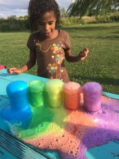 With this rainbow volcano kids will create a river of cascading colors in this twist on the classic erupting volcano science experiment. Volcano Science Projects, Volcano Science Experiment, Science Activities For Kids, Cool Science Experiments, Science Fair Projects, Preschool Science, Toddler Activities, Projects For Kids, Preschool Activities