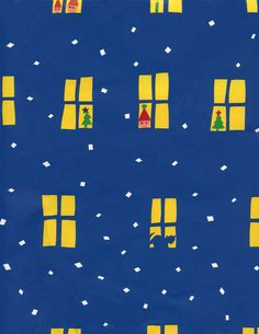 Marimekko Christmas wrapping paper from the 1980s