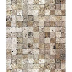 Quadradinhos de Pedra Bege