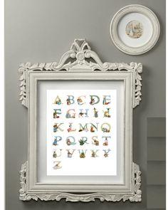 Love the little Peter Rabbit roundel.  Beatrix Potter Alphabet Print Children Nursery by CloudsandWaters, $12.00