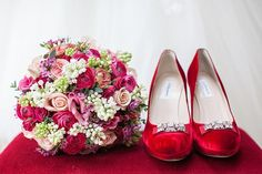 Red Shoes and Ranunculus, Peonies and Pronovias...