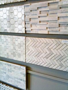 Sublime Useful Ideas: Tin Backsplash Kitchen backsplash bathroom hardware.Wallpaper Backsplash Home Depot blue backsplash paint. Hexagon Tile Backsplash, Kitchen Backsplash, Rustic Backsplash, Blue Backsplash, Hexagon Tiles, Marble Tiles, Backsplash Ideas, Tiling, Tile Ideas